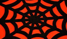 Free Black Spider Web On An Orange Background Stock Photos - 34405013