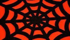 Free Black Spider Web On An Orange Background Stock Photos - 34405013