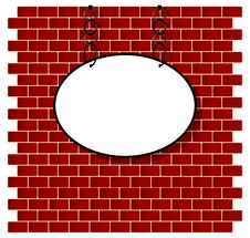 Free Oval Sign On Bricks Wall Royalty Free Stock Photos - 34405998