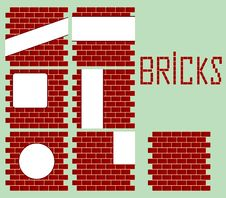 White Signs On Bricks Wall Royalty Free Stock Photos