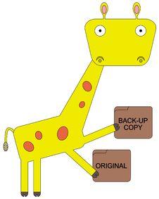 Free Giraffe Can Backup Stock Photography - 34408652