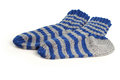 Free Two Knitted Socks Stock Photo - 34413850