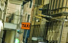 Free Taxi Sign Stock Images - 34413864