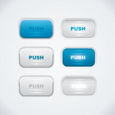 Free Blue And White Push Buttons Stock Photos - 34414063