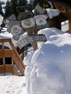 Cute Snowmen Royalty Free Stock Image