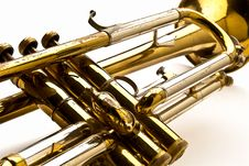 Free Closuep Of A Trumpet Royalty Free Stock Image - 34421246