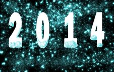 Free Happy New Year 2014 Royalty Free Stock Photography - 34438667