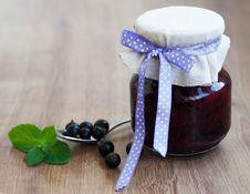 Free Black Currants Jam Stock Image - 34446671