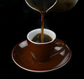 Free Pouring Coffee In A Cup Royalty Free Stock Photos - 34463868
