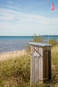 Free Michigan State Help Station On Michigan  Lake Royalty Free Stock Photography - 34461197