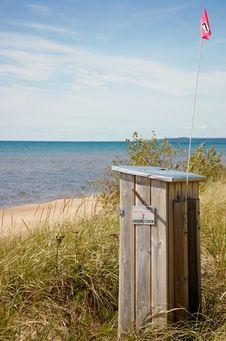 Michigan State Help Station On Michigan  Lake Royalty Free Stock Photography