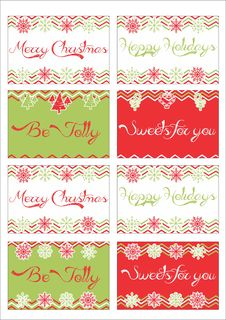 Free Christmas Gift Tags Stock Photo - 34461200