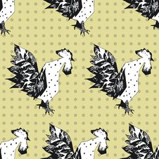 Free Seamless Pattern With Cocks Royalty Free Stock Photography - 34461467