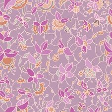 Free Ornate Floral Seamless Pattern Stock Photos - 34461543