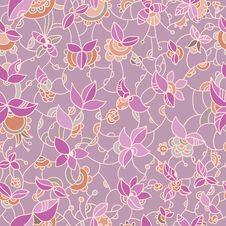 Free Ornate Floral Seamless Pattern Stock Photos - 34461543