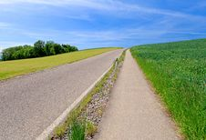 Countryside Road In Switzerland Stock Photography
