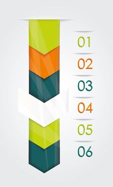 Modern Design Minimal Style Infographic Template. Royalty Free Stock Images