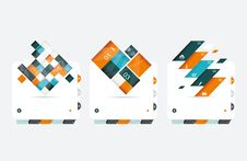 Free Abstract  Banners Set Stock Photography - 34465712