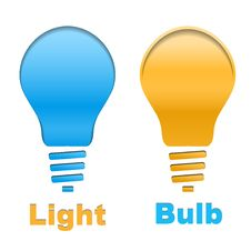 Free Light Bulb Button Stock Photo - 34467210