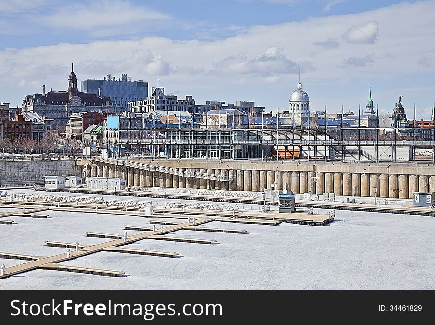 Montreal Old Port In Winter