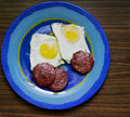 Free Fried Eggs Royalty Free Stock Photo - 34470315