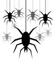 Free Spiders Hanging On A Web Stock Image - 34475071