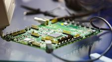 Free Printed Circuit Board. PCB Royalty Free Stock Image - 34470296