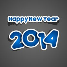 Free Happy New Year 2014 Royalty Free Stock Photography - 34473457