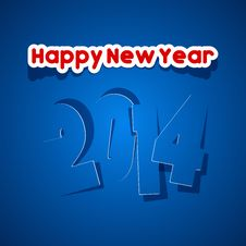 Free Happy New Year 2014 Royalty Free Stock Photography - 34473477