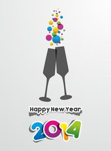 Free Happy New Year 2014 Stock Image - 34474071