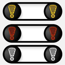 Free Set Abstract Vector Alert Buttons Royalty Free Stock Image - 34477196