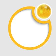 Yellow Round Frame For Text Royalty Free Stock Photo