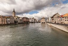Free Zurich On A Cloudy Winter Day Stock Image - 34478831