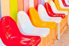 Free Multi-colored Seats For Children Royalty Free Stock Images - 34482239