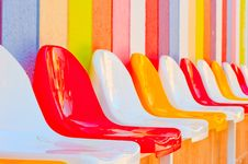 Colored Seats In The Kids Club Stock Photos