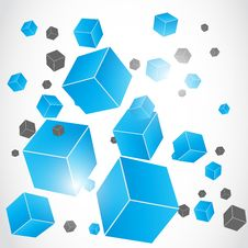 Free Abstract 3d Effect Cube Royalty Free Stock Photos - 34484318