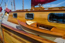 Free Beautifully Restored Classic Sail Boat Royalty Free Stock Photos - 34485118