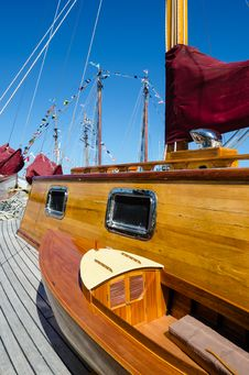 Free Beautifully Restored Classic Sail Boat Royalty Free Stock Photo - 34485315