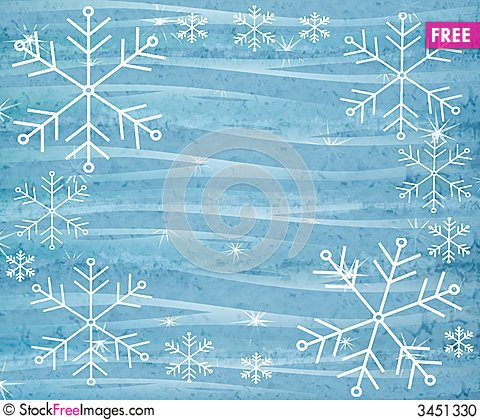 Free Rustic Snowflake Background 3 Stock Photo - 3451330