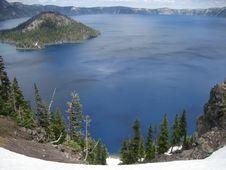 Free Crater Lake Royalty Free Stock Photo - 3450045