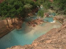 Free Pool Below Havasu Falls Stock Photography - 3451182