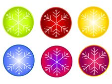 Free Snowflake Circle Icons Clipart Royalty Free Stock Images - 3451259