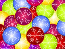 Free Snowflake Ornament Background Royalty Free Stock Image - 3451266