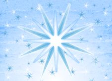 Blue White Rustic Snowflakes Stock Image