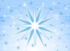 Free Blue White Rustic Snowflakes Stock Image - 3451341