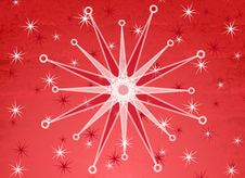 Red White Snowflake Background Stock Images