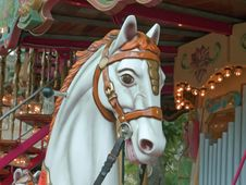 Old Carousel Horse Royalty Free Stock Image