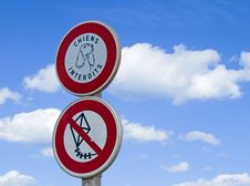 No Dogs, No Kites Royalty Free Stock Images