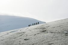 Free Explorers In A Glacier Stock Images - 3452274