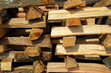 Free Stack Of Fire Wood Stock Photography - 3453452